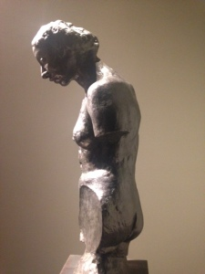 A side view of one of his many female-focused pieces.
