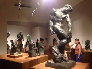 Just one of the many rooms featuring Rodin's grogeous sculptures.