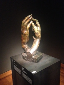Rodin had a fascination with hands and would spend hours and hours perfecting them.